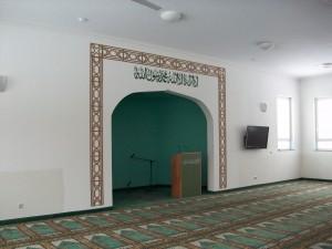 Bln.-Heinersdf. Khaddija-Moschee, Qibla-Wand mit Mihrab