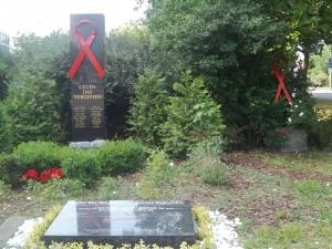 Berlin-Schöneberg, Gegen das Vergessen (Denkmal für die Aids-Opfer)