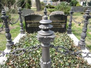 Berlin-Mitte, Frz. Friedhof Liesenstraße, Grab Theodor Fontane