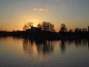 Berlin-Hakenfelde, Sonnenuntergang an der Havel